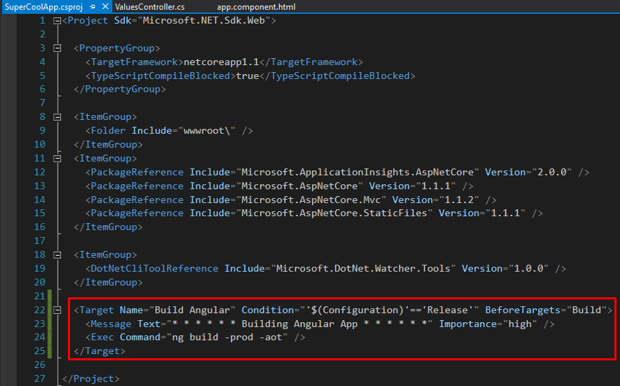 How to build an Angular Application with ASP NET Core in