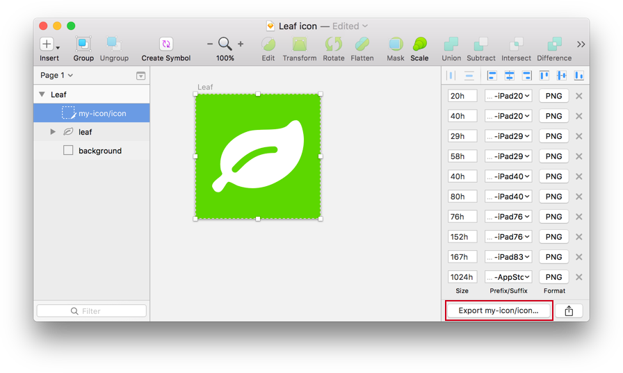 Painless icon generation for iOS apps with Sketch and Xcode
