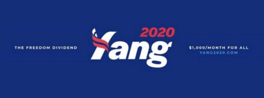 Yang 2020 Freedom Dividend graphic and logo