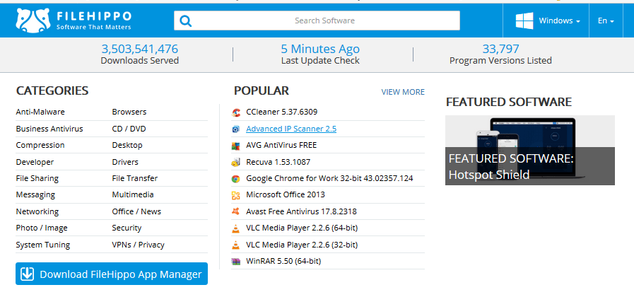Top 20 free download software Websites in the World
