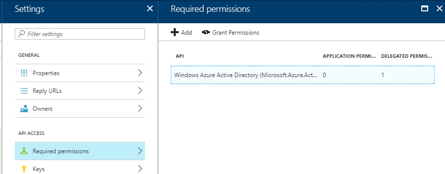 Getting started with Windows Azure AD Authentication using