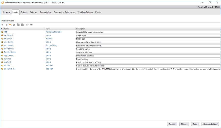 vRealize Orchestrator (vRO) Send VM Info by Email using HTML
