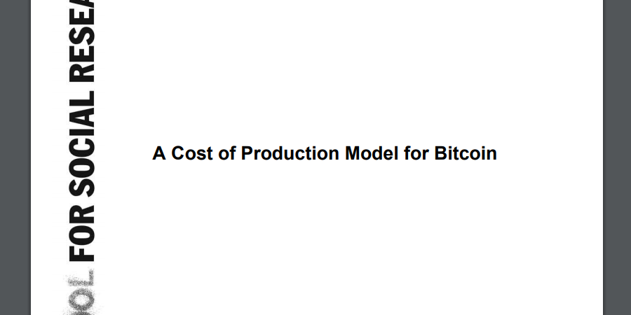 Cost of Production Model