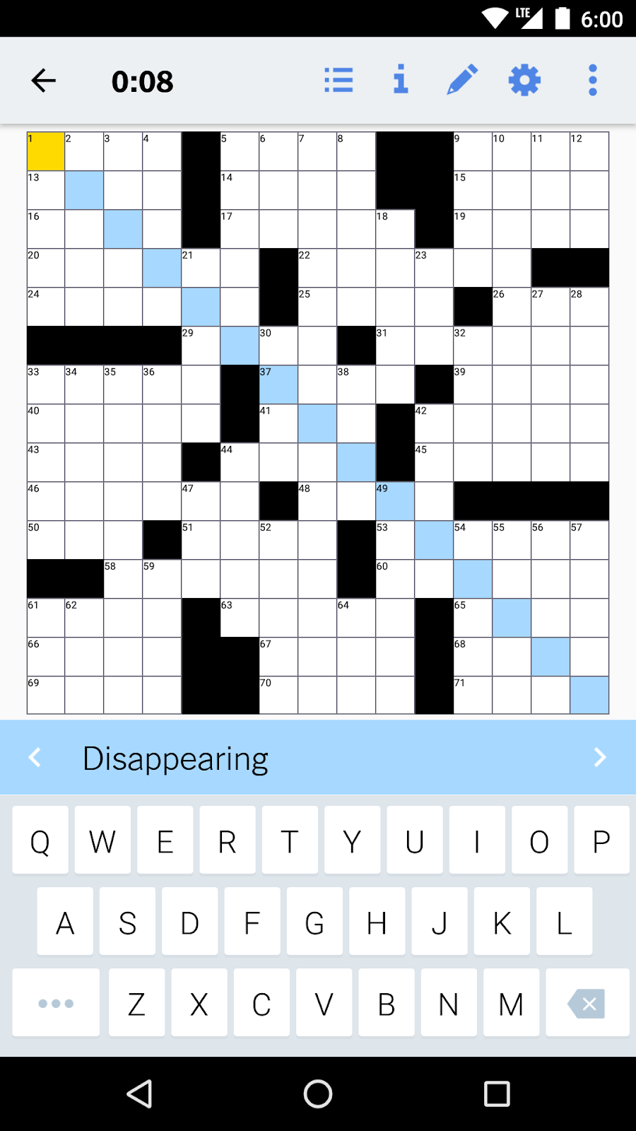 Across Down Diagonal How We Test Crossword Puzzles On Android By Ben Oberkfell Nyt Open