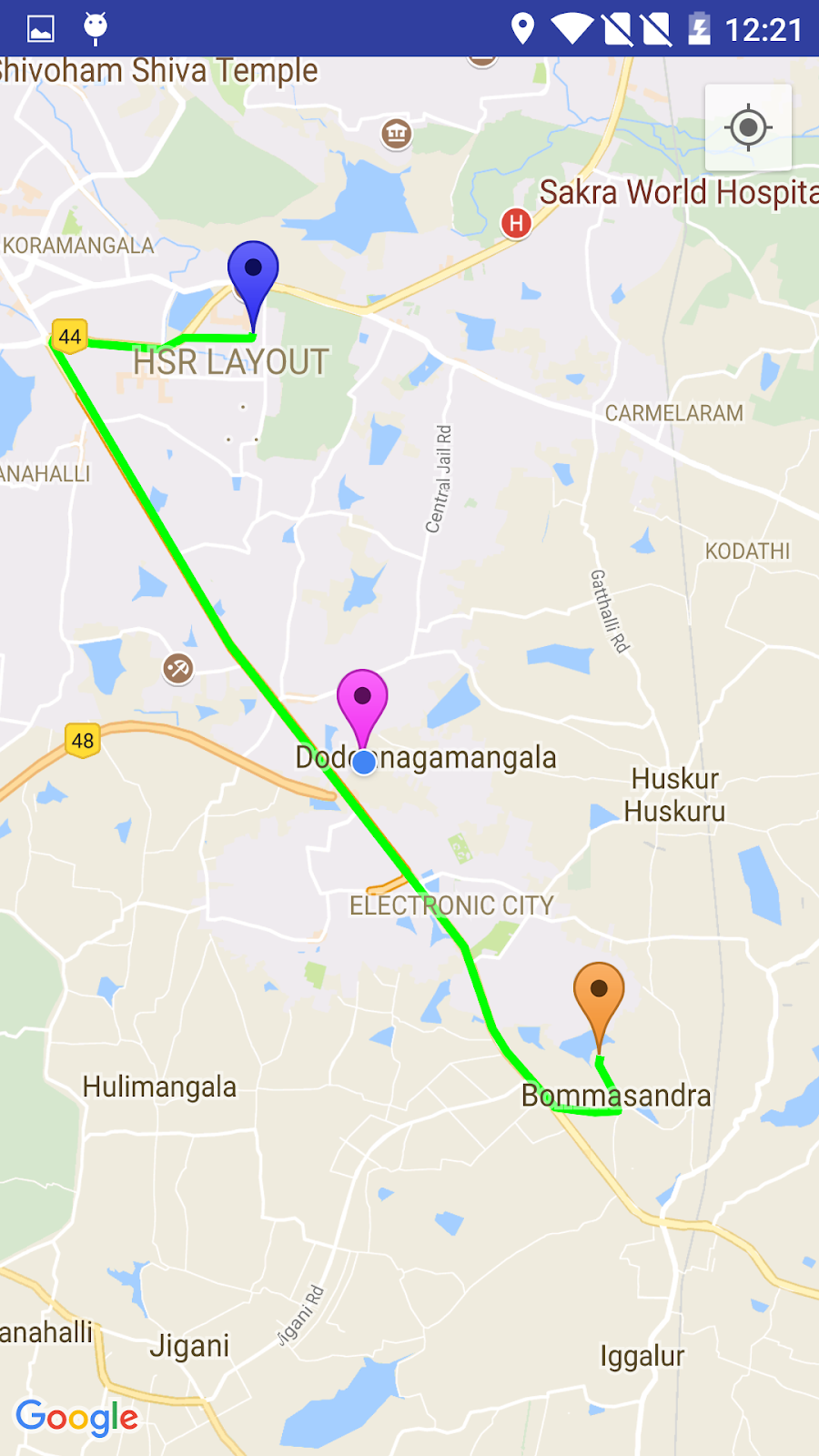 Drawing Route Between Two Points Using Google Map - Subba