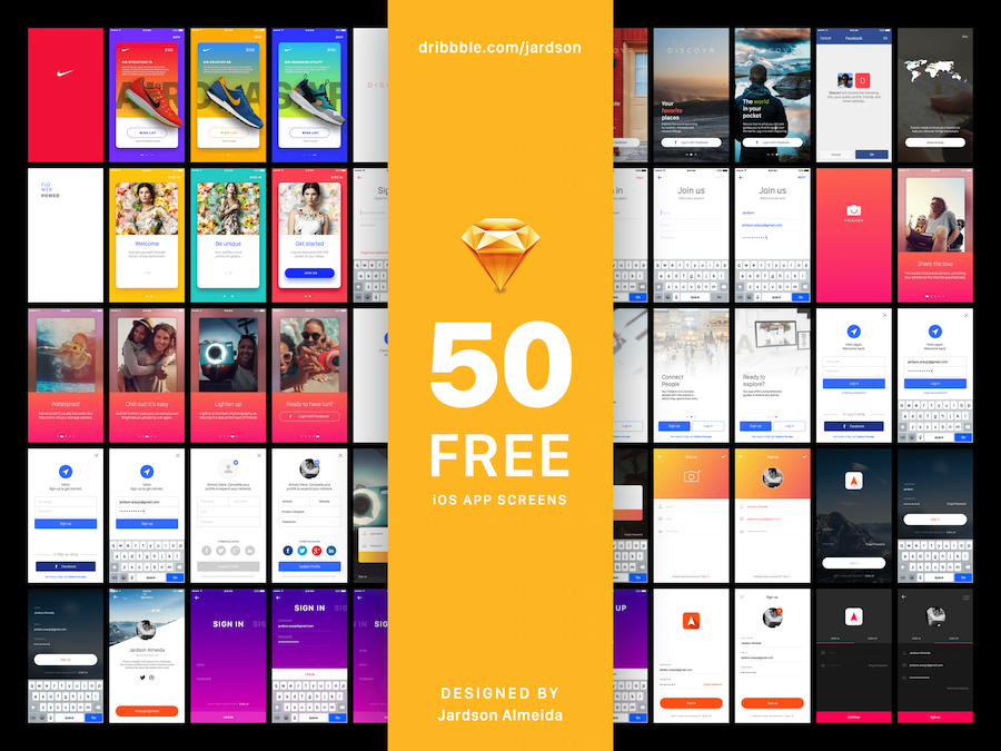 20 Best Free iOS App Templates/Kits[PSD & Sketch & XD] in 2019