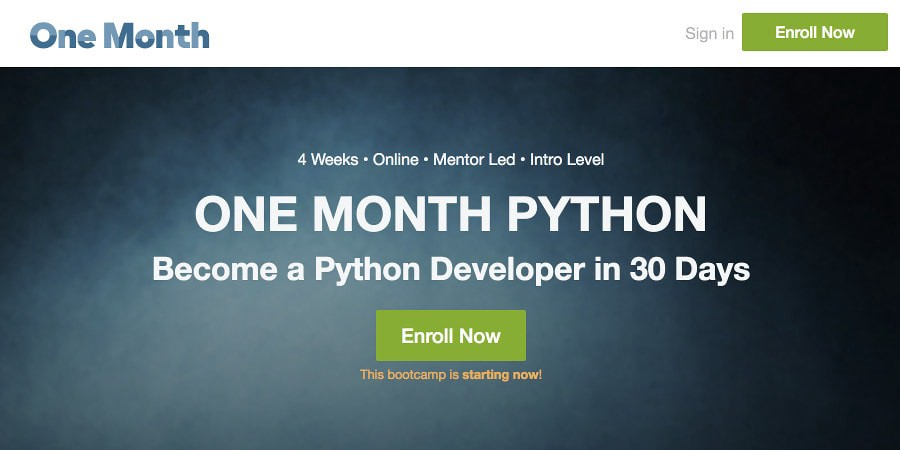 Learn Python Online from OneMonth