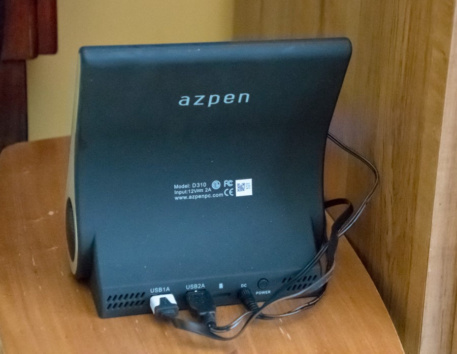 Azpen DockAll D310 rear view showing two USB ports