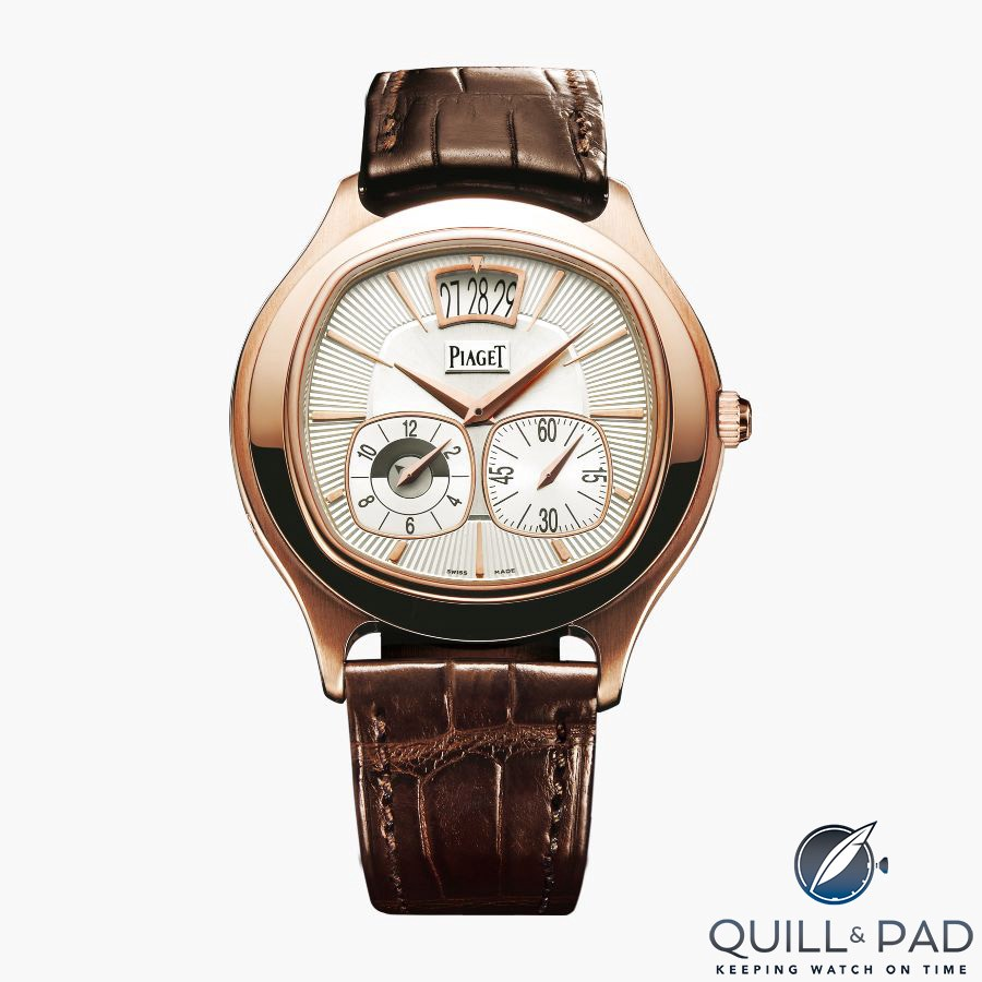 Piaget Emperador Cushion Dual Time Zone in pink gold
