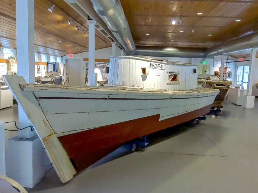 An oyster boat at Annapolis Maritime Museum