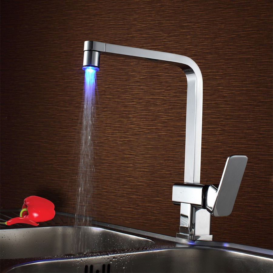 Best Taloya LED Light Up Single Handle One Hole Kitchen Faucet