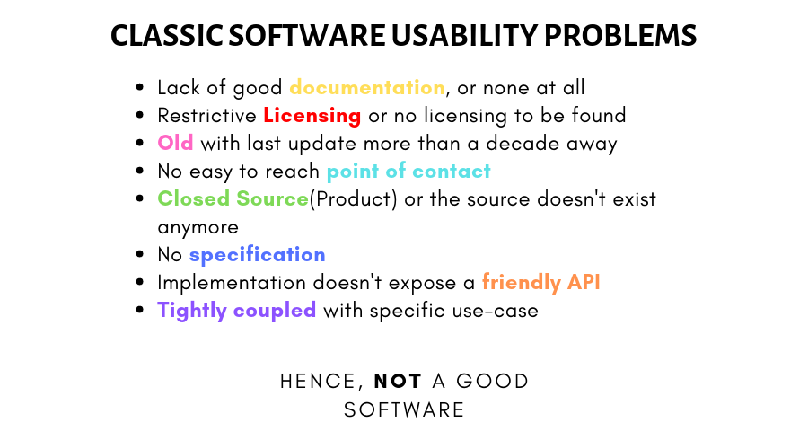 CLASSIC SOFTWARE USABILITY PROBLEMS