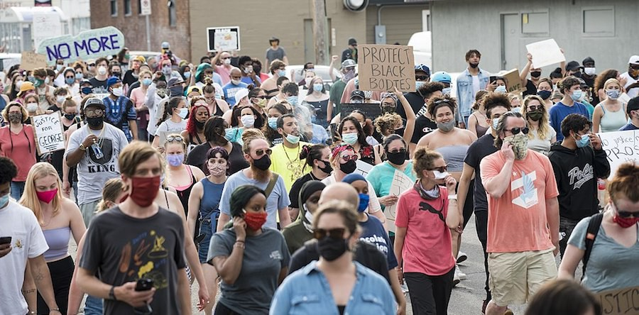 Protests against police violence in Minneapolis, Minnesota May 26, 2020