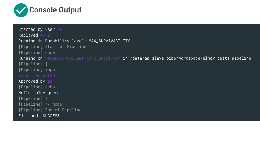How to do a multi-select input in a pipeline - elhay efrat