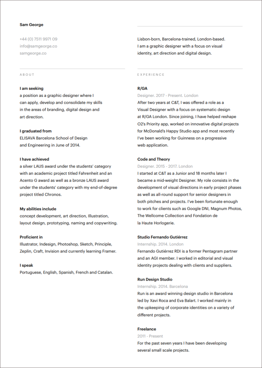 17 Best Free Ui Designer Resume Samples And Templates By Amy
