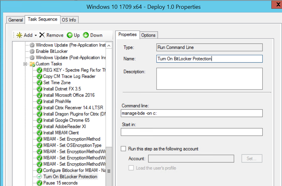 Pre-Provision Bitlocker Full Disk Encryption with MBAM in