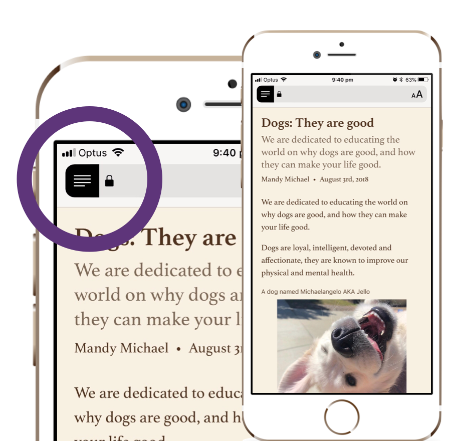 Building websites for Safari Reader Mode and other reading apps