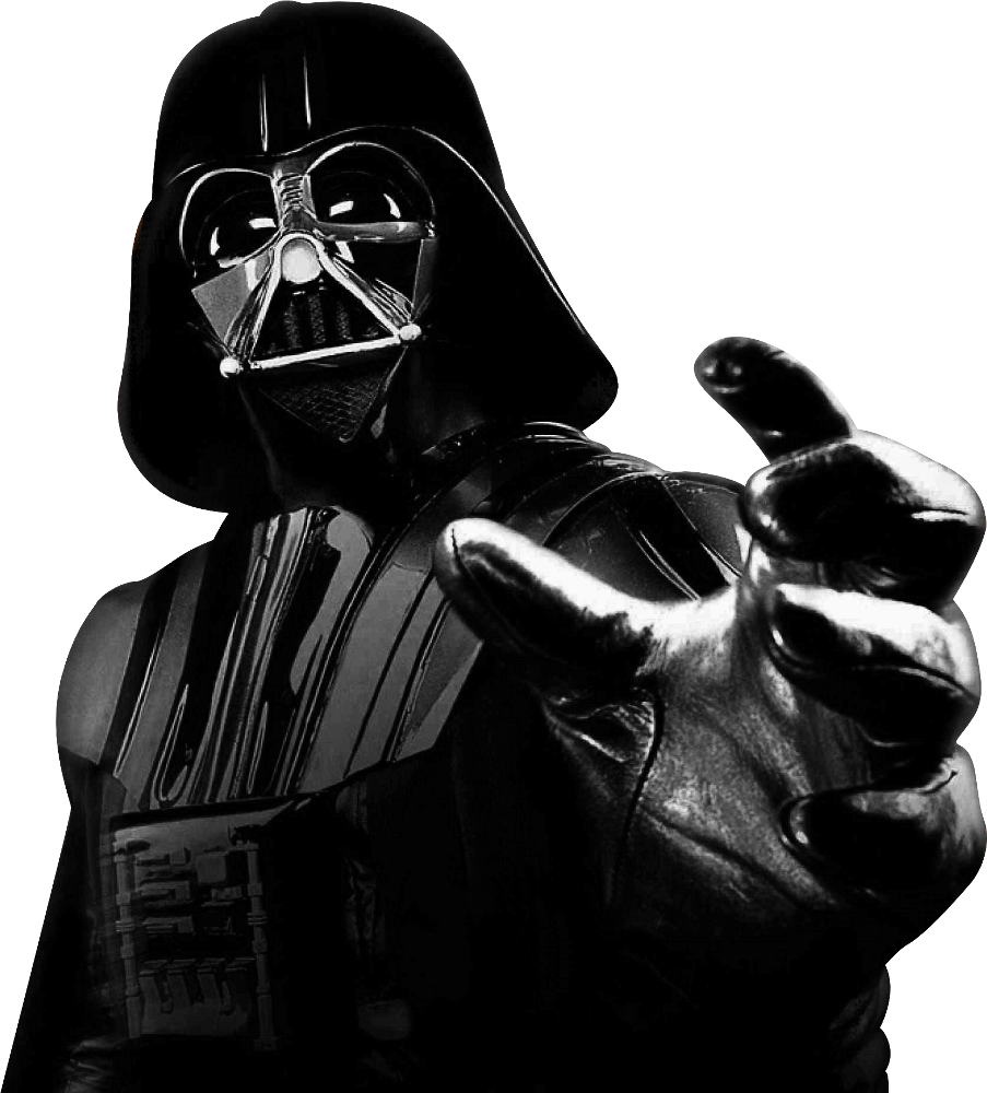 Darth Vader preparing to choke you with the Force