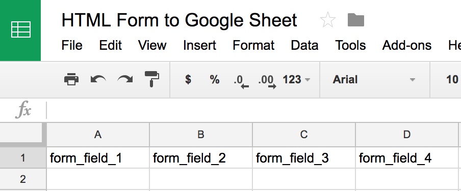 How to Submit an HTML Form to Google Sheets…without Google Forms