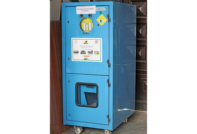 Recycling machines to resolve plastic water bottles mess