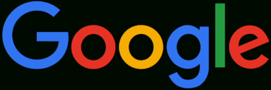 "Google Logo on black background with caption reading, "" Is Google Parent Company Alphabet Shopping For A New Wearable? """