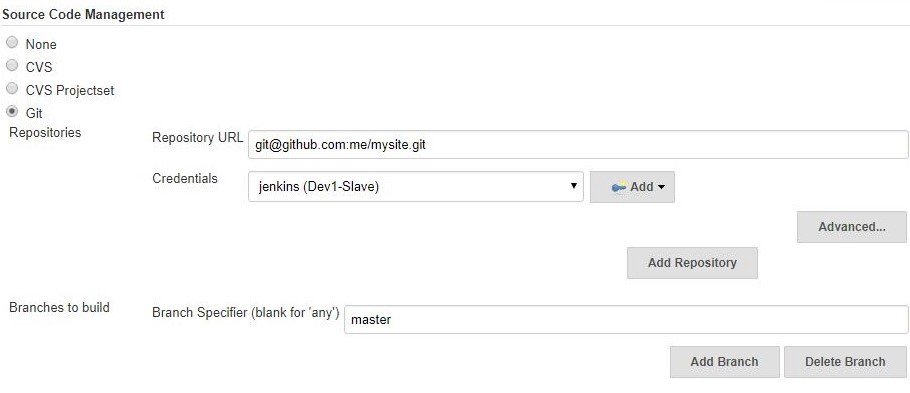 How to use Jenkins to Sync between your code repository on