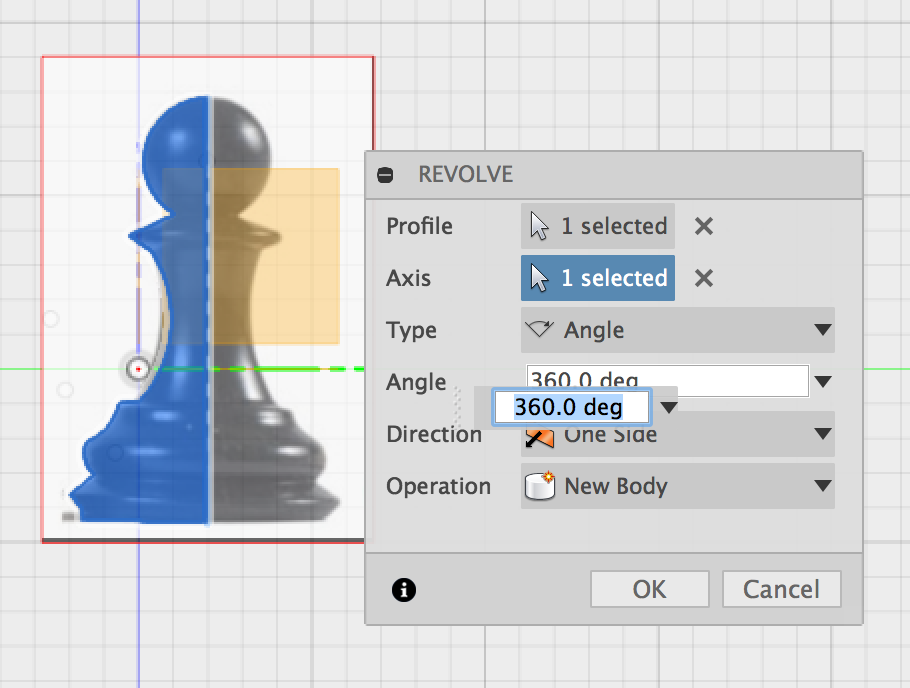 Modeling and 3D Printing a Chess Pawn in Fusion 360