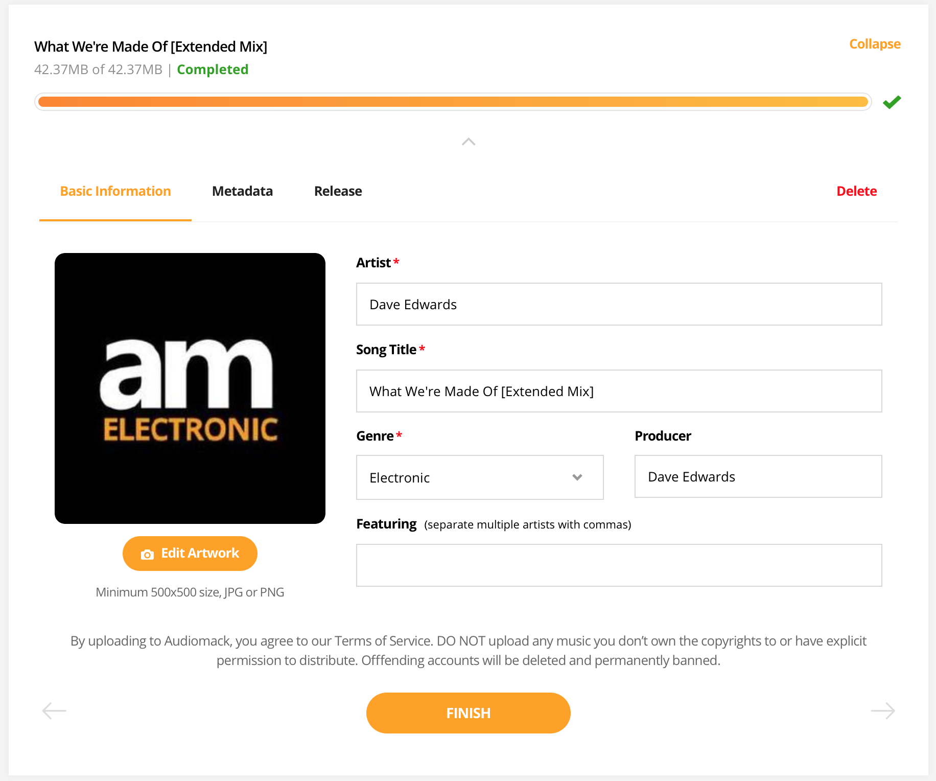 how to upload music to audiomack