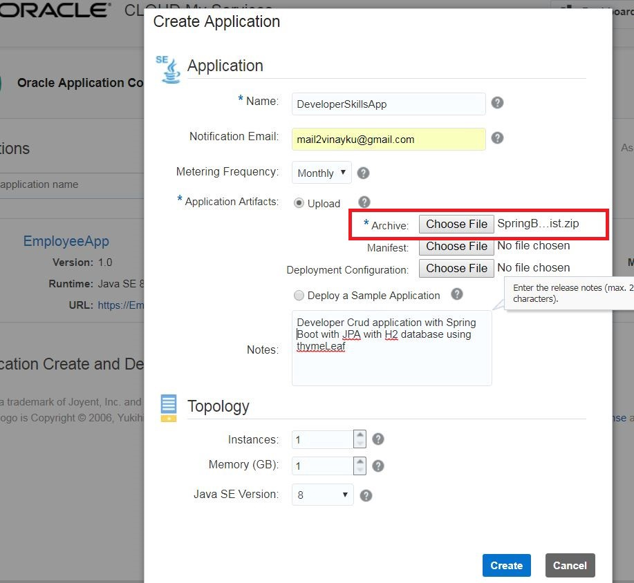 Deploying a Spring Boot Microservice to Application