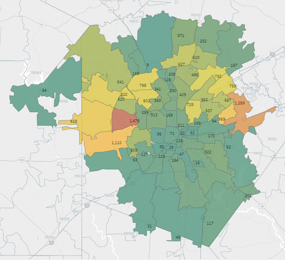 san antonio map by zip code On The Map Where Military Veterans Choose To Live In And Around san antonio map by zip code