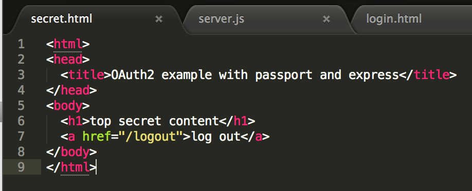 Github OAuth2 with passport and express - Cristian