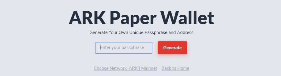 Can enter and confirm information from a previously generated passphrase (or custom one)