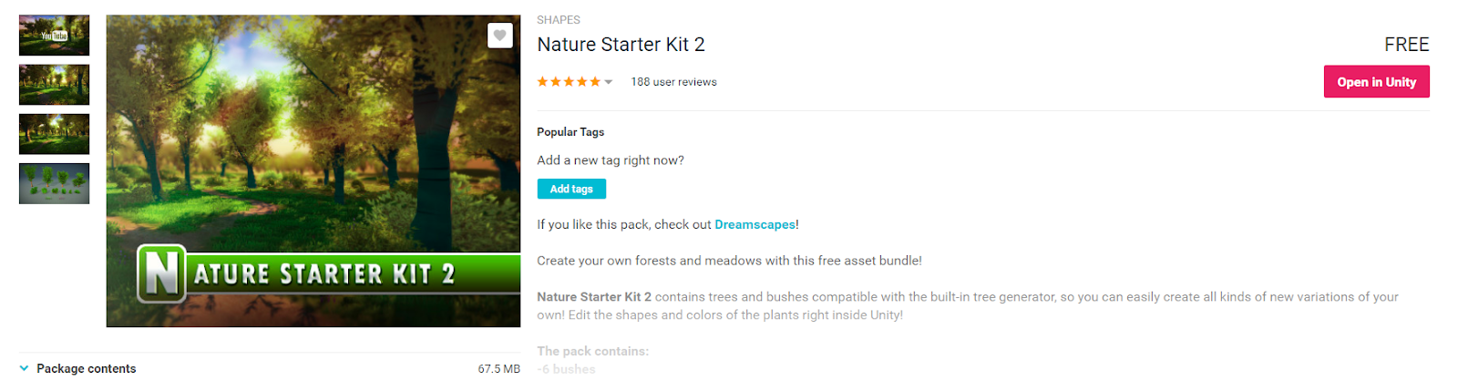 Build a Forest Tree by Tree with the Nature Starter Kit 2 on Unity