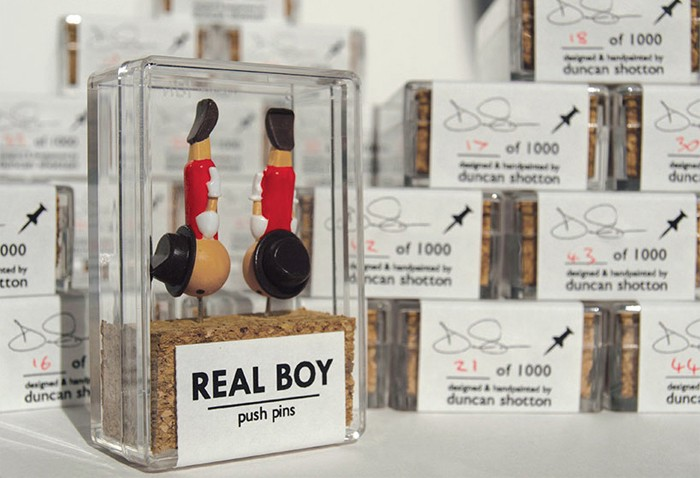 Puntine Da Disegno Inglese.Real Boy Push Pins Tasc Medium