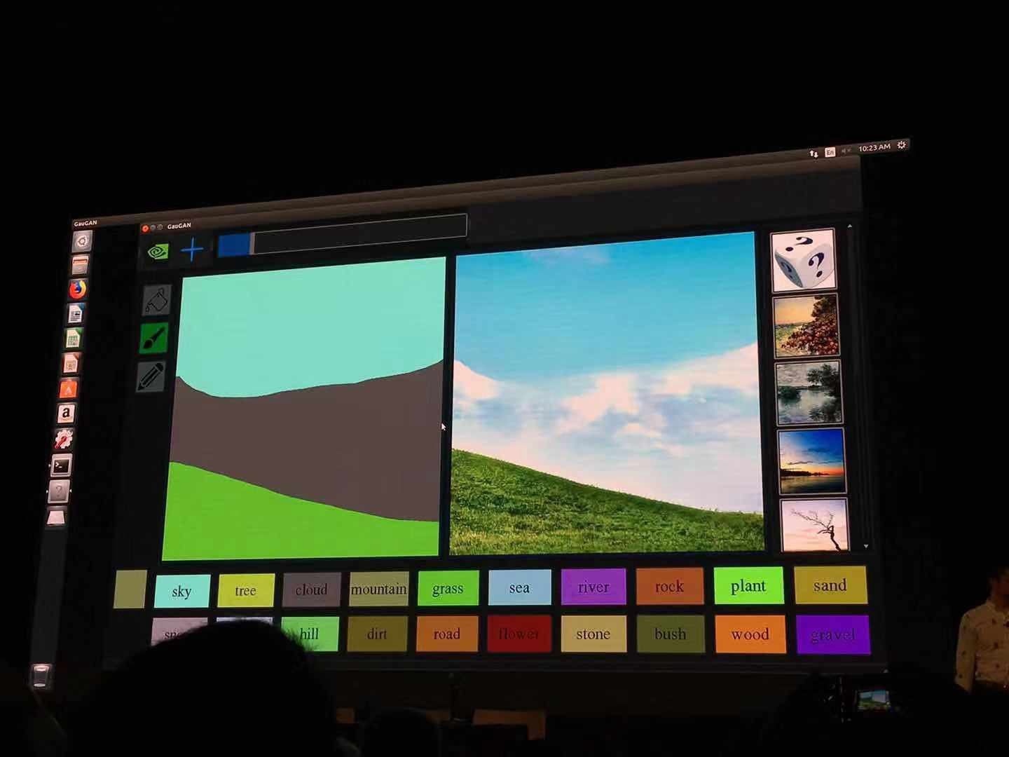 GTC 2019 | NVIDIA's New GauGAN Transforms Sketches Into Realistic Images