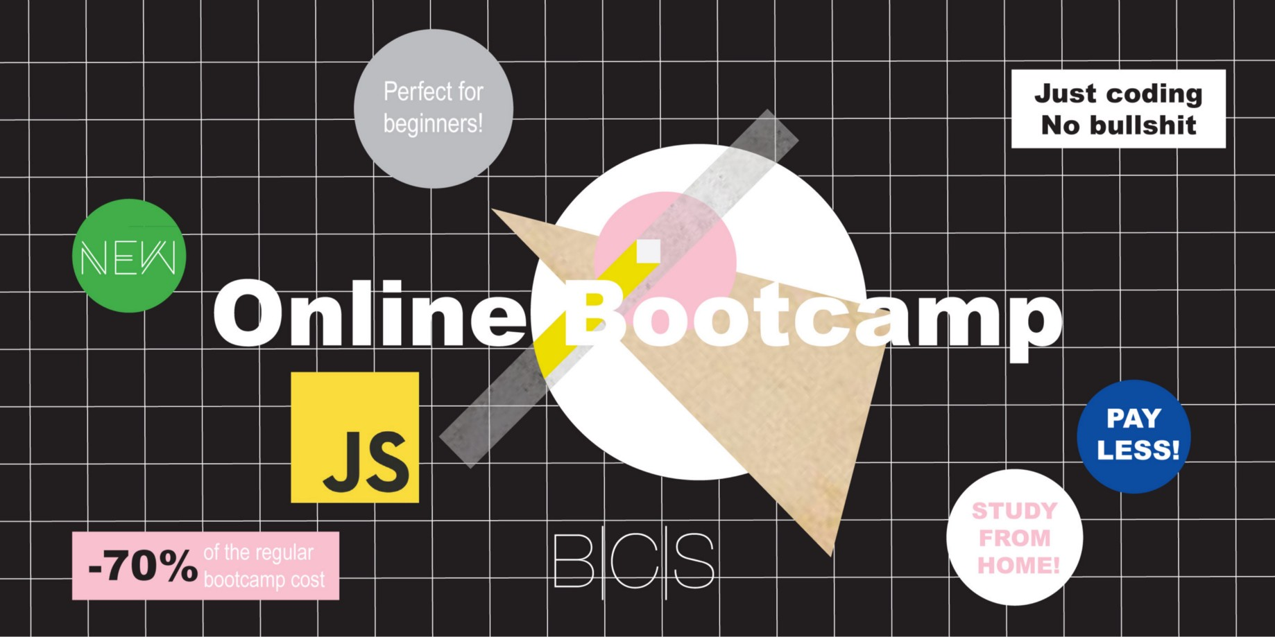 Start when you want with the Online JavaScript Full-Stack Bootcamp
