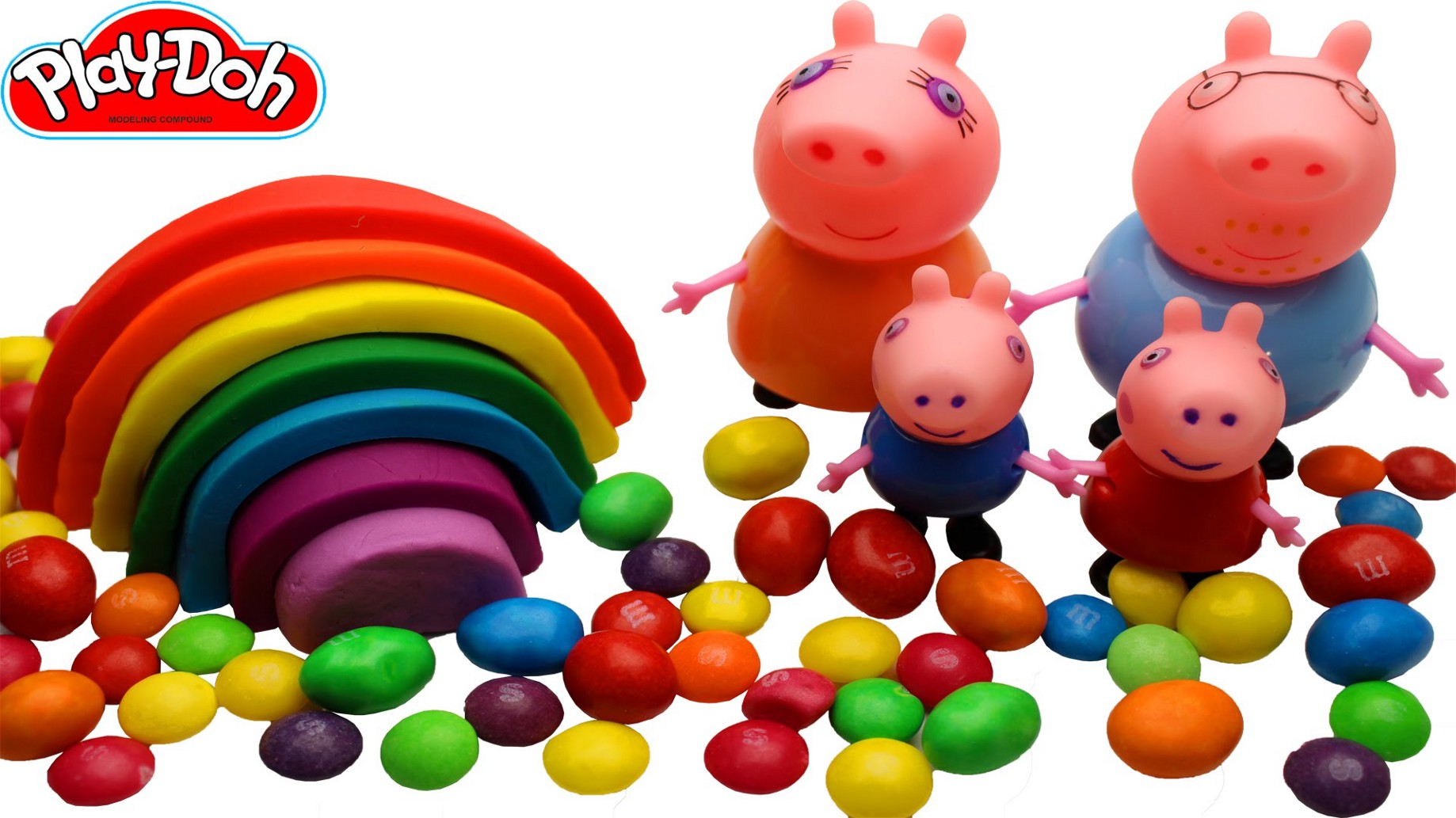 How To Make A Rainbow Play Doh For Peppa Pig Family Fun Kids Youtube
