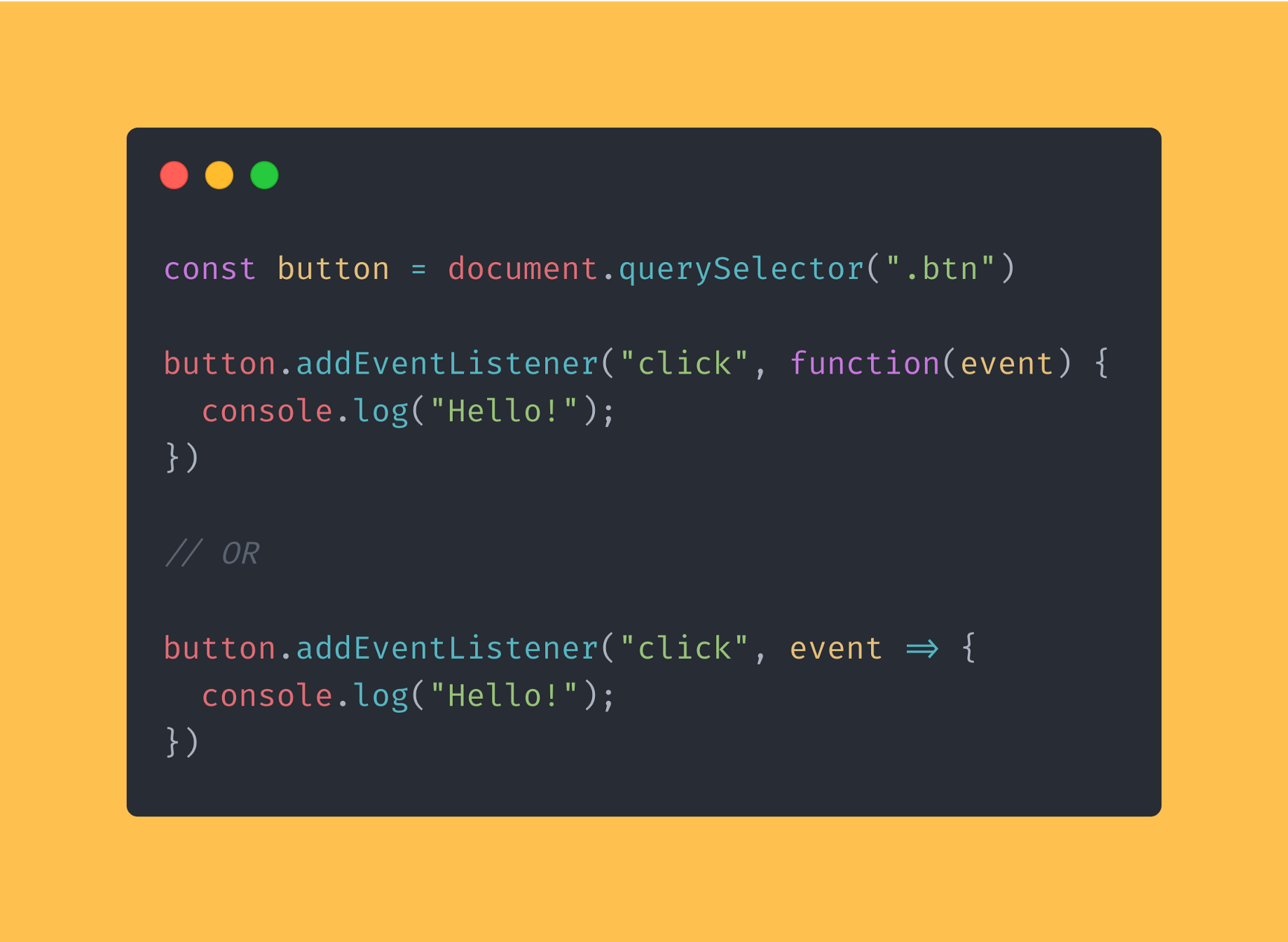 DOM events in JavaScript. Here is how's your DOM structured in ...