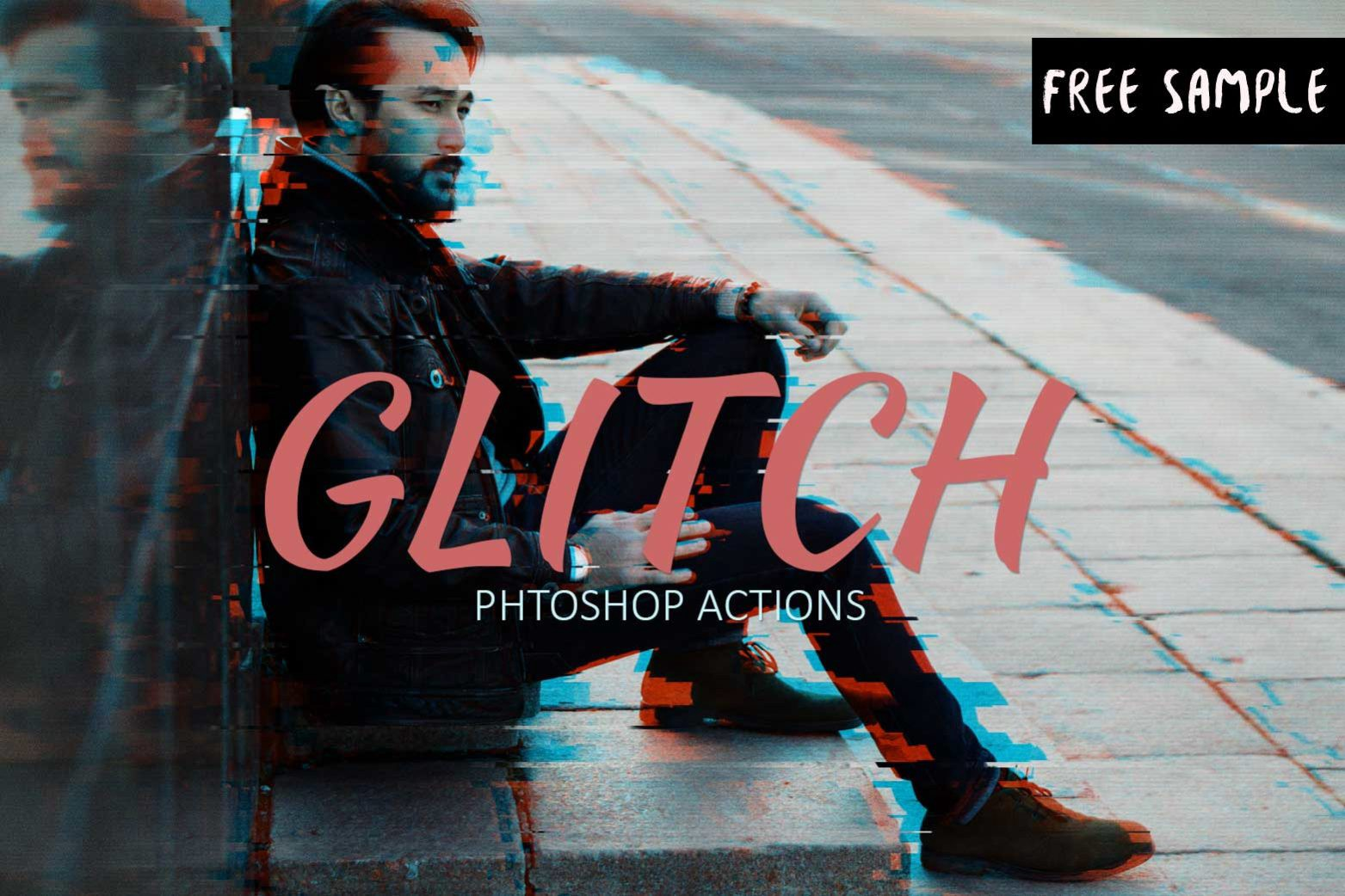 Free Glitch Effect Photoshop Action - Creativetacos - Medium