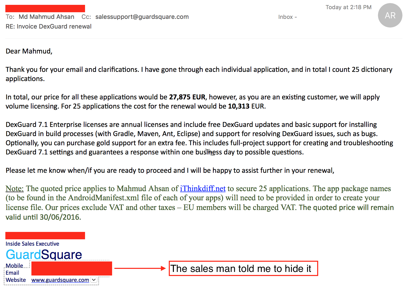 DEXGUARD 480 EUR TO 10313 EUR THE WORST SOFTWARE DO NOT USE