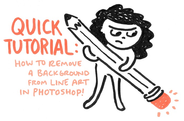 Quick Tutorial: How to Remove a Background from Line Art in Photoshop