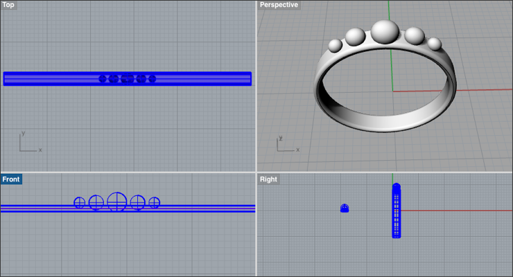 Create a Graduated Sphere Ring in Rhino 3D - Drawing Post