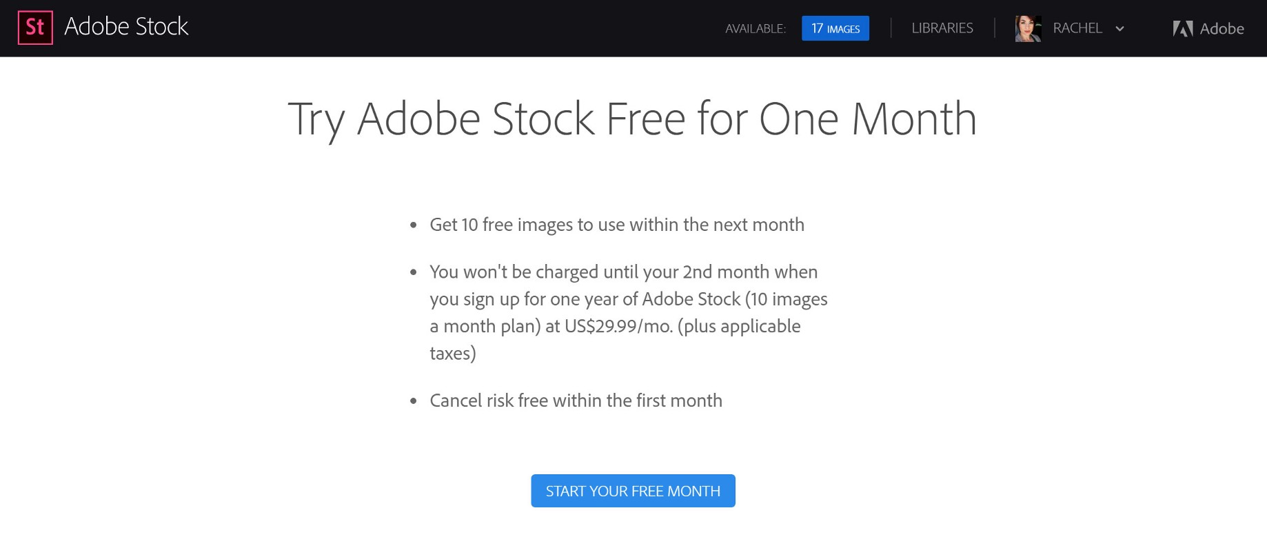 """Slammed with an Adobe Stock early cancellation fee on a """"risk free"""