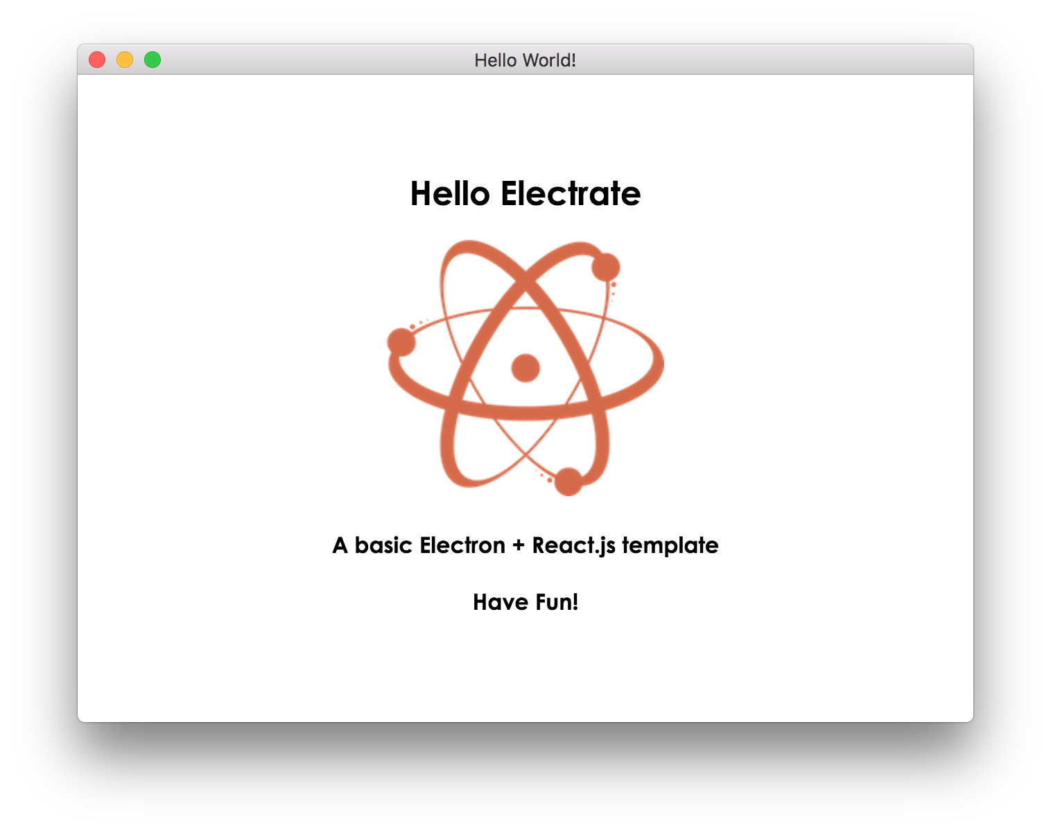 Creating an Electron + React js Template that Works!