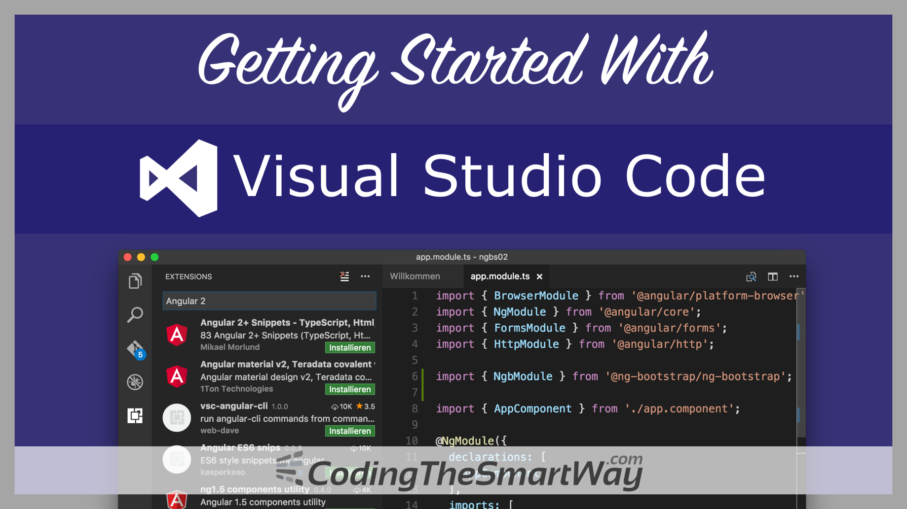 Getting Started With Visual Studio Code - CodingTheSmartWay com Blog