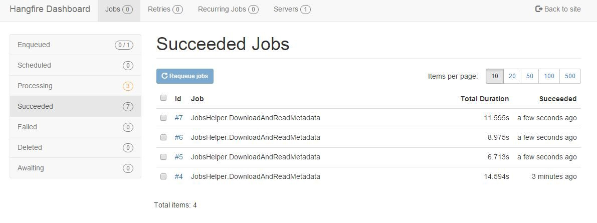 Scheduling background tasks in your  Net Web Api project