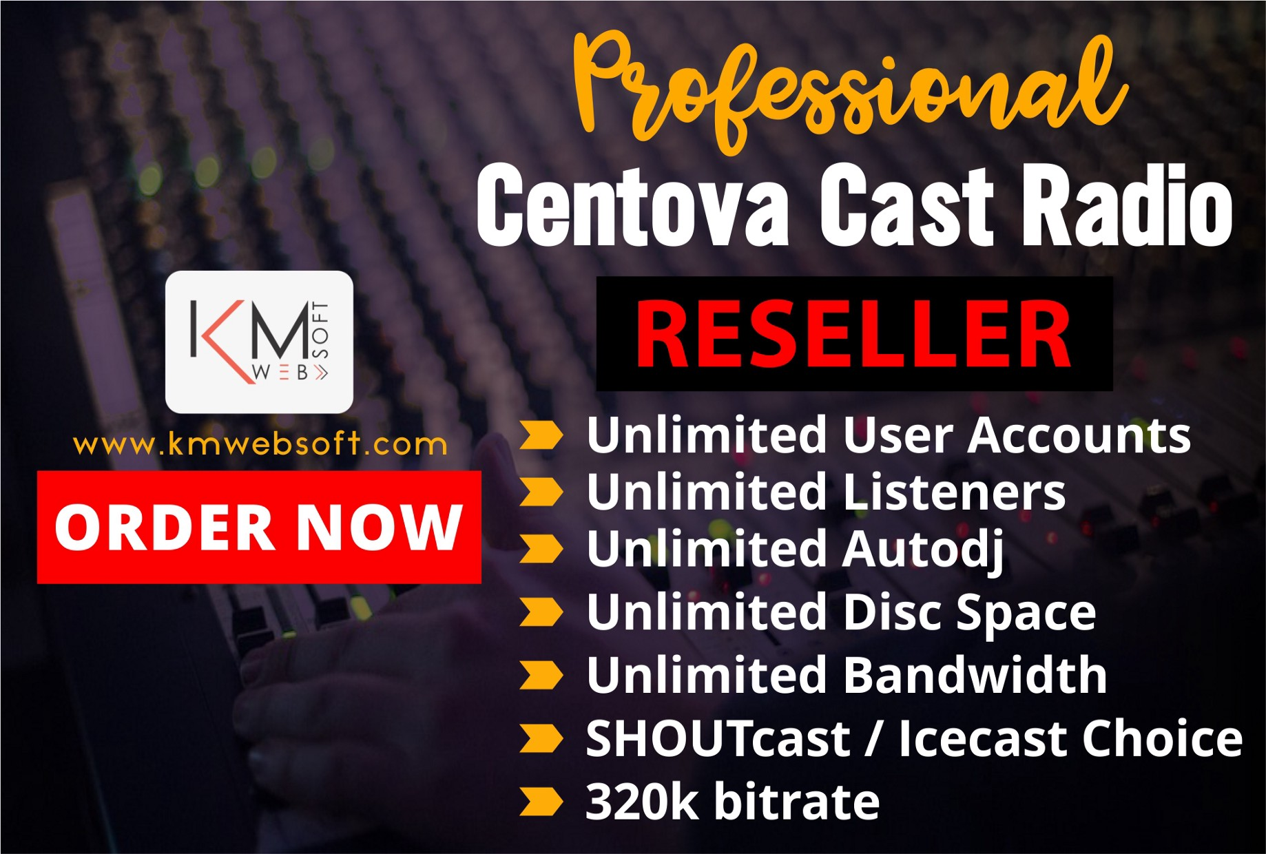 Centova cast Radio Reseller - kmwebsoft com - Medium