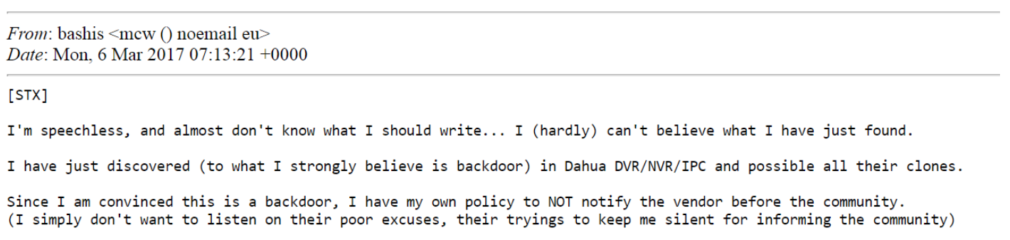 Dahua Security Camera Backdoor Checker and The Story Behind It
