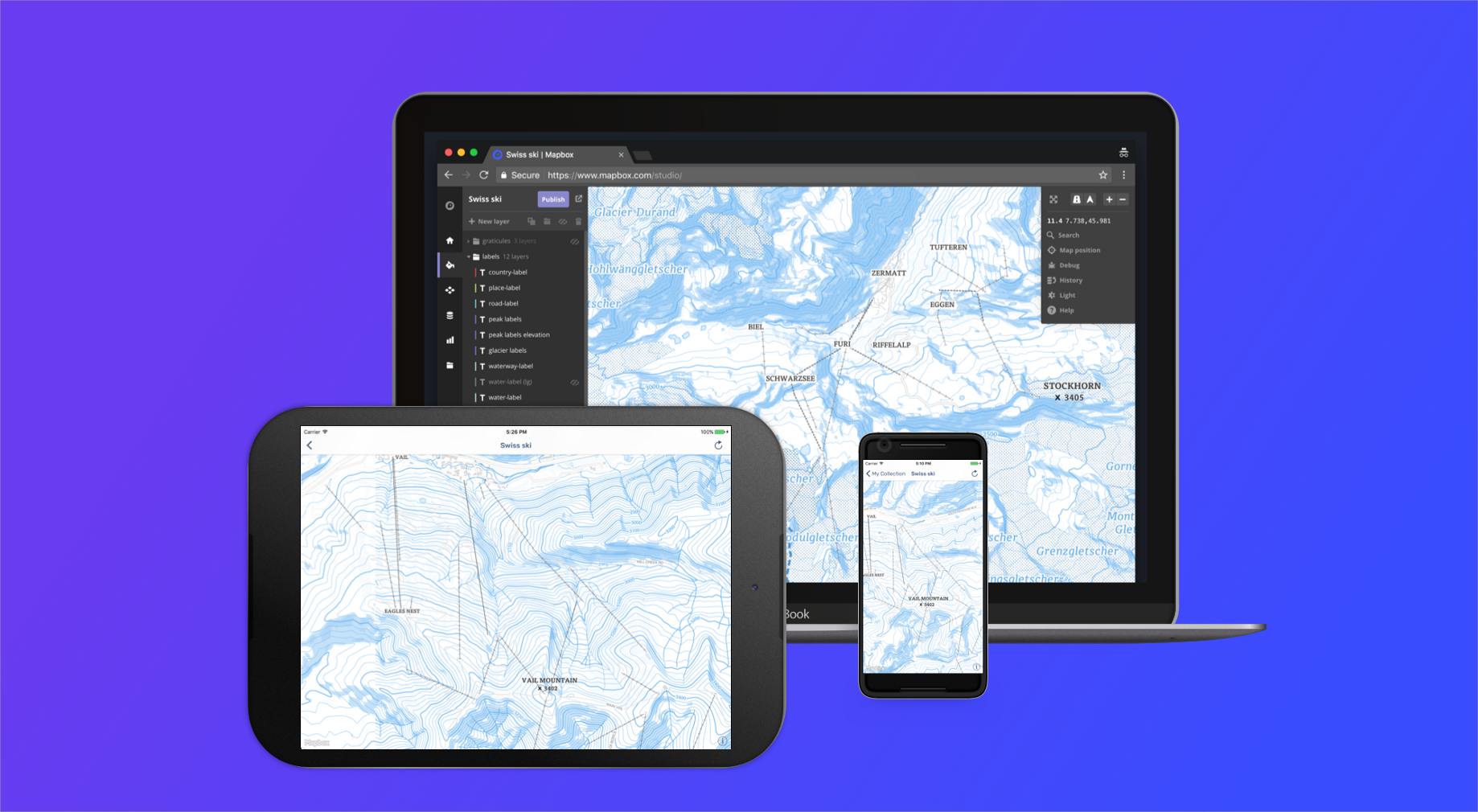 Prototype faster with the Mapbox Studio Preview app for Android
