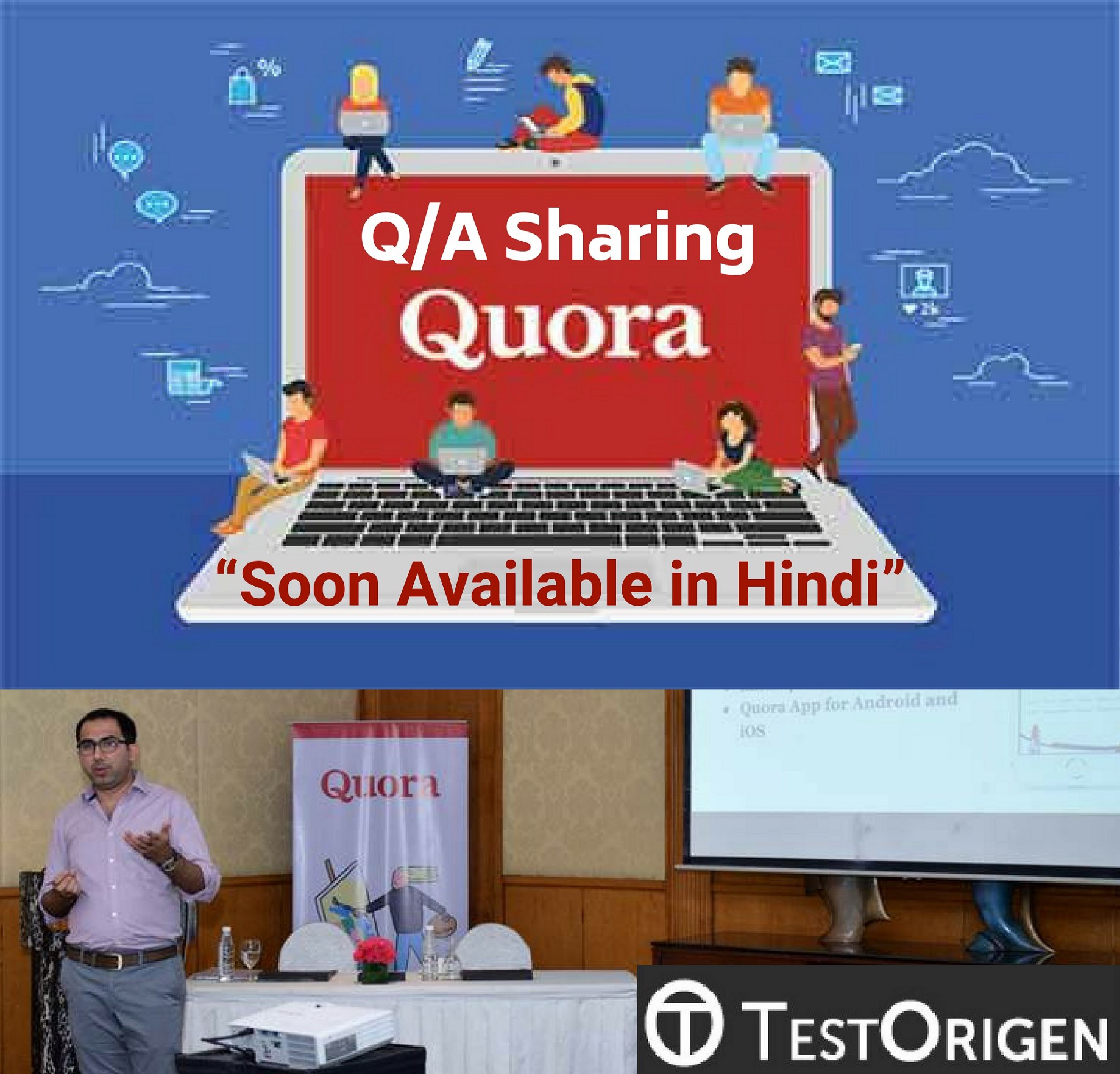 "Q/A Sharing Quora, ""Soon Available in Hindi"" - TestOrigen"